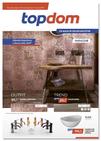 TOPDOM Akcijski katalog kopalnice in keramika febr 2019