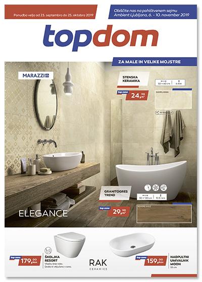TOPDOM Akcijski katalog kopalnice in keramika sept 2019