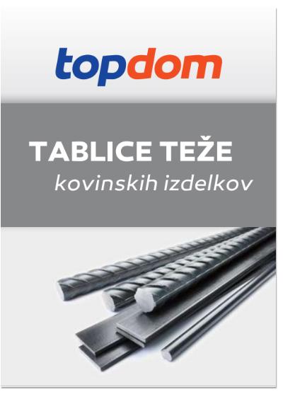 TOPDOM Tablice teze kovinskih izdelkov