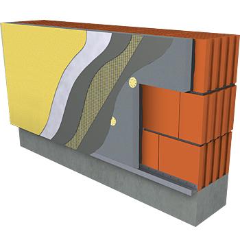 FASADNI SISTEM WEBER.THERM CLIMA 036 MODRA 14,5cm, OMET WEBERPAS TOPDRY 1,5mm