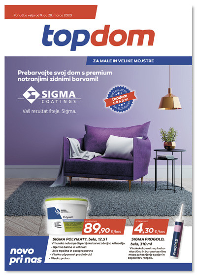 TOPDOM Akcijski katalog marec 2020