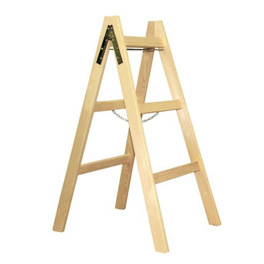 dvostranska lesena lestev 3 klini topdom