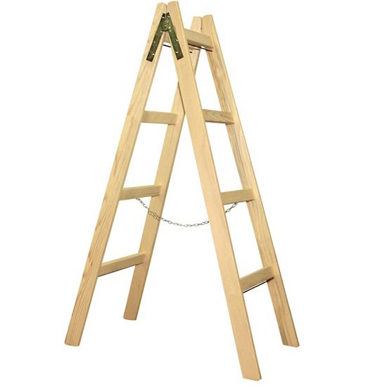 dvostranska lesena lestev 4 klini topdom