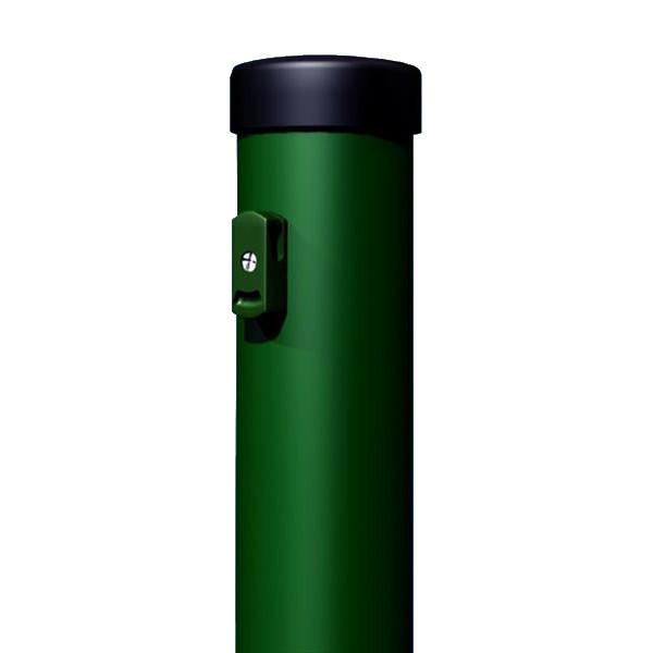 ograjni steber okrogel zelen plastificiran