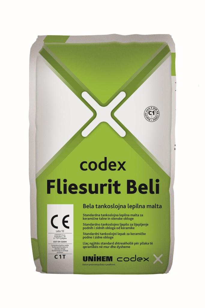 CODEX FLIESURIT BELI 25kg LEPILO ZA KERAMIKO