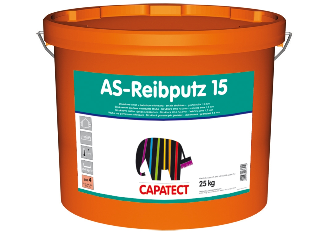CAPAROL CAPATECT AS-REIBPUTZ 15 25kg ZAKLJUČNI FASADNI OMET BARVNA SKUPINA FTG1