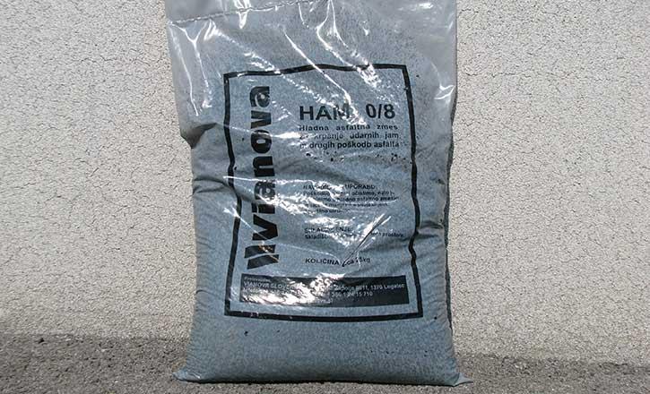 HLADNA ASFALTNA MASA HAM 0/8, 25 kg