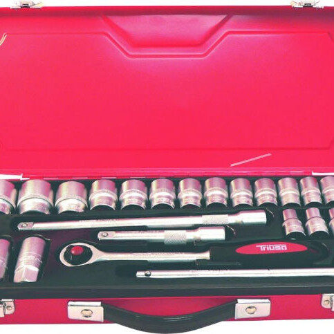 26 delna garnitura nasadnih naticnih kljucev v kovcku triuso topdom 1 uai