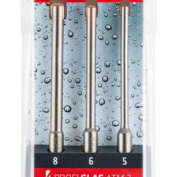 3 delni set svedrov za steklo profi glas alpen 6 kotno vpetje topdom 1 uai
