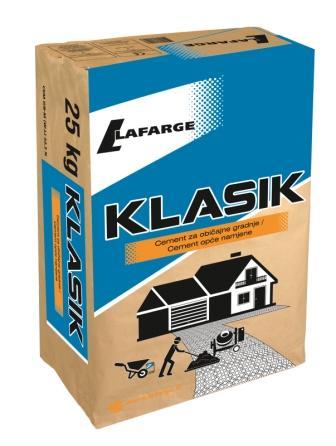 CEMENT LAFARGE KLASIK, 25 kg