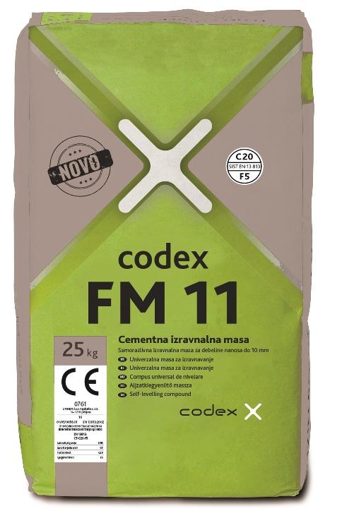 CODEX FM 11 25kg IZRAVNALNA MASA ZA TLA