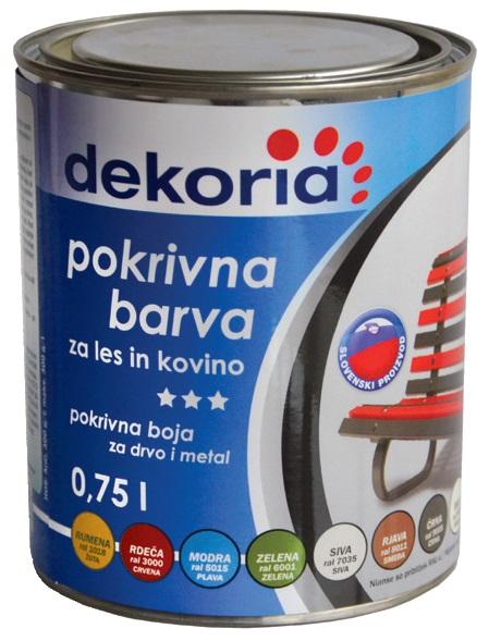 DEKORIA POKRIVNA BARVA 0,2l ČRNA 9005