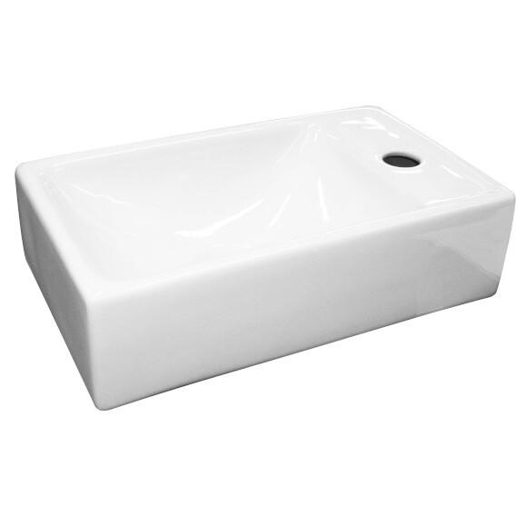 umivalnik pravokotni 40cm lara bel H8155340000221 fayans topdom 1 uai
