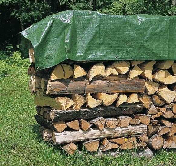 zascitna ponjava za drva zelena mocna 210g m2 topdom