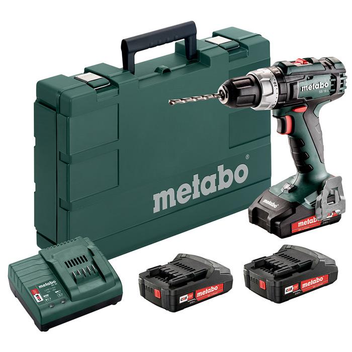 baterijski vrtalnik vijacnik metabo sb 18 l set topdom