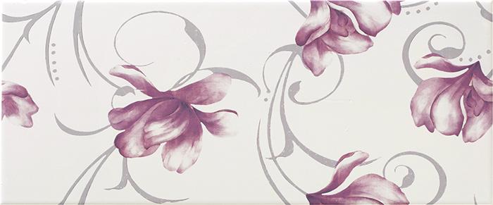 DEKOR STENSKA KERAMIČNA PLOŠČICA LUCY WHITE DC FLOWER, GORENJE KERAMIKA