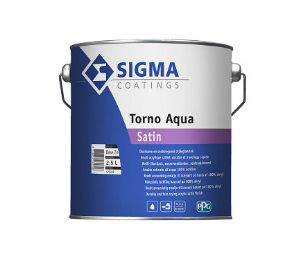 Akrilni emajl za les in kovino Sigma Torno Aqua Satin
