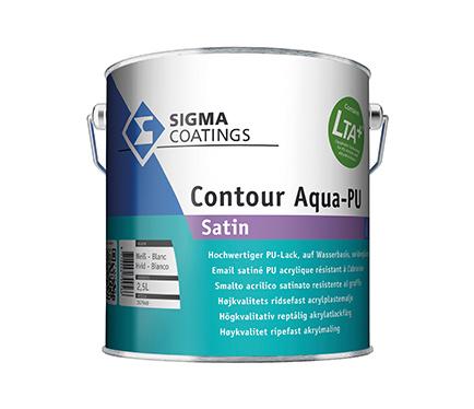 Emajl Sigma Contour Aqua PU Satin