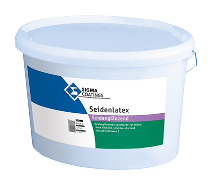Notranja pralna barva Sigma Seidenlatex, polsijaj