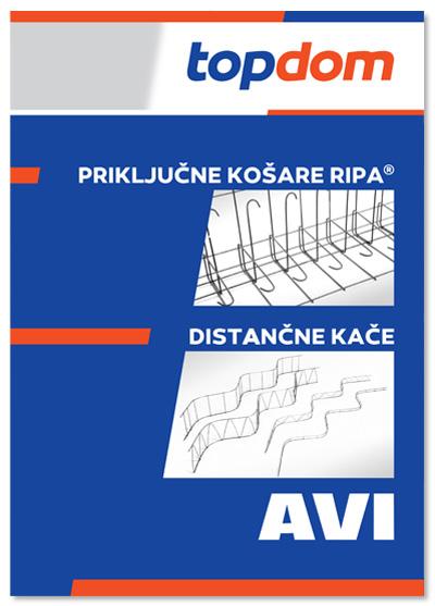 TOPDOM AVI Katalog prikljucnih kosar RIPA in distancnih kace