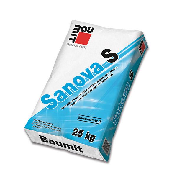 BAUMIT SANOVA S 25kg VODOODBOJEN SANACIJSKI OMET