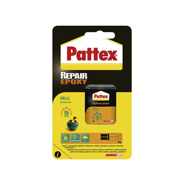 PATTEX REPAIR EPOXY 6ml UNIVERZALNO LEPILO HENKEL TOPDOM