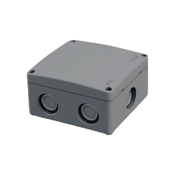 RAZVODNICA TEM ND01 86.5x86.5x48mm NADOMETNA SIVA TOPDOM 1