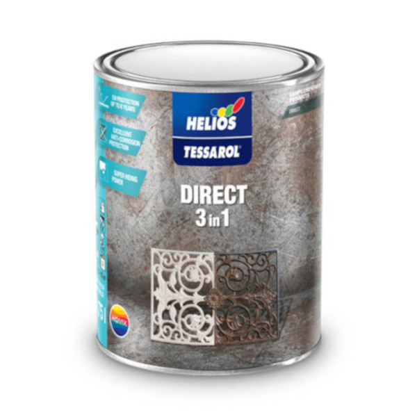 TESSAROL DIRECT 3 IN 1 0.75l PREMAZ ZA KOVINO CRN HELIOS TOPDOM 1