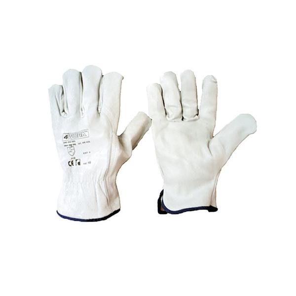 delovne rokavice 4work 406 usnjene bele