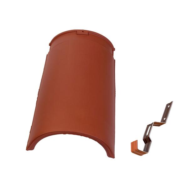 slemenjak s sponko tondach gladki 17 cm rdec topdom