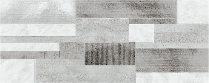 DEKOR PLOŠČICA CROSSOVER DRYWALL GREY 20x50cm, ERMES
