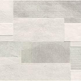 DEKOR PLOSCICE CROSSOVER DRYWALL WHITE 20x50cm ERMES TOPDOM uai