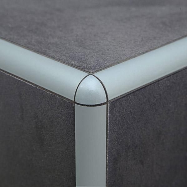 VOGALNI CEP PVC POLKROZNI PEPELNATO SIV PROFILPAS TOPDOM