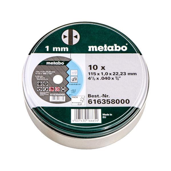 REZALNA PLOŠČA ZA INOX METABO SP 115x1x22,23mm 10kos