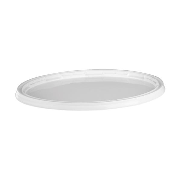 pokrov za ovalno vedro bel topdom