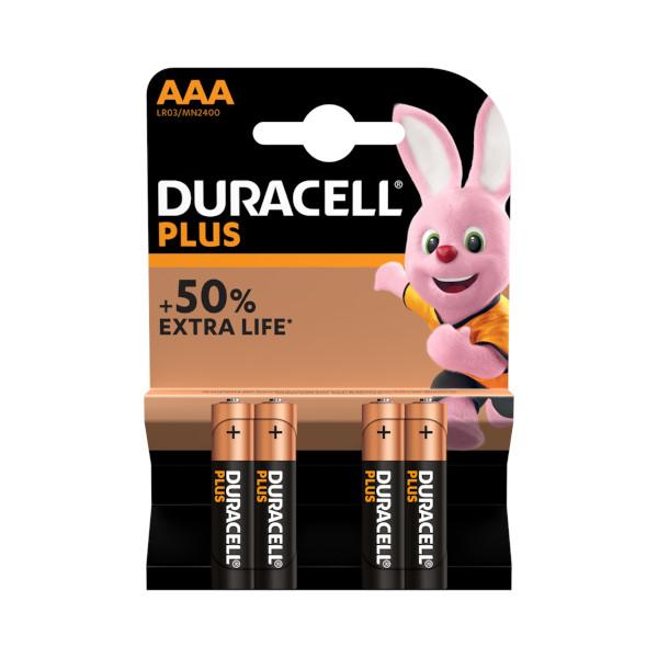 BATERIJE DURACELL 1.5V AAA PLUS POWER ALKALINE 4kos TOPDOM