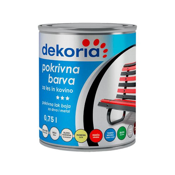 DEKORIA POKRIVNA BARVA 0,75l RDEČA 3000
