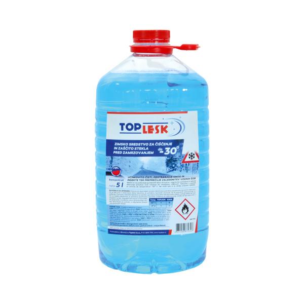 tekocina za vetrobransko steklo top lesk zimski 5l topdom